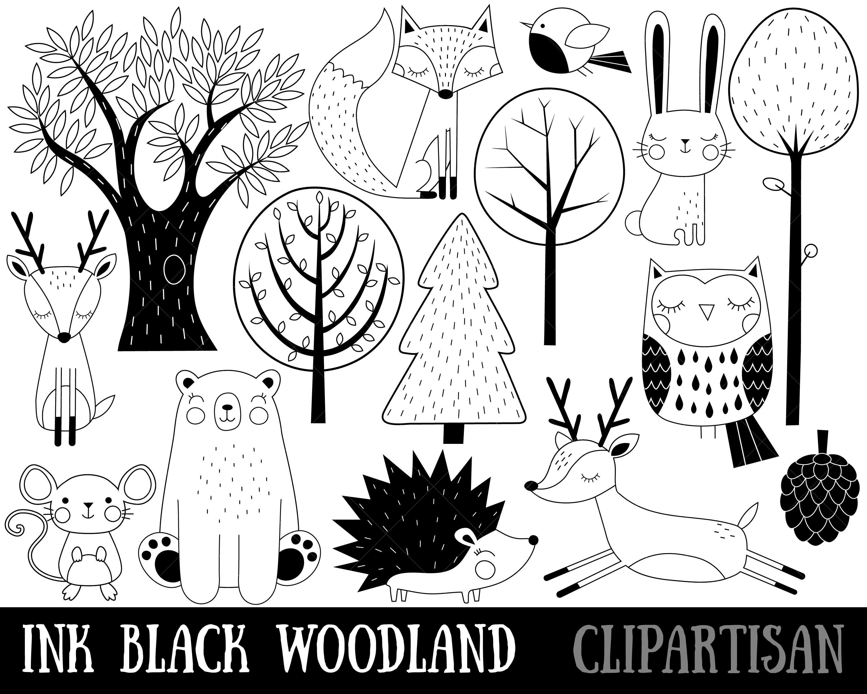 Woodland Animals Clipart