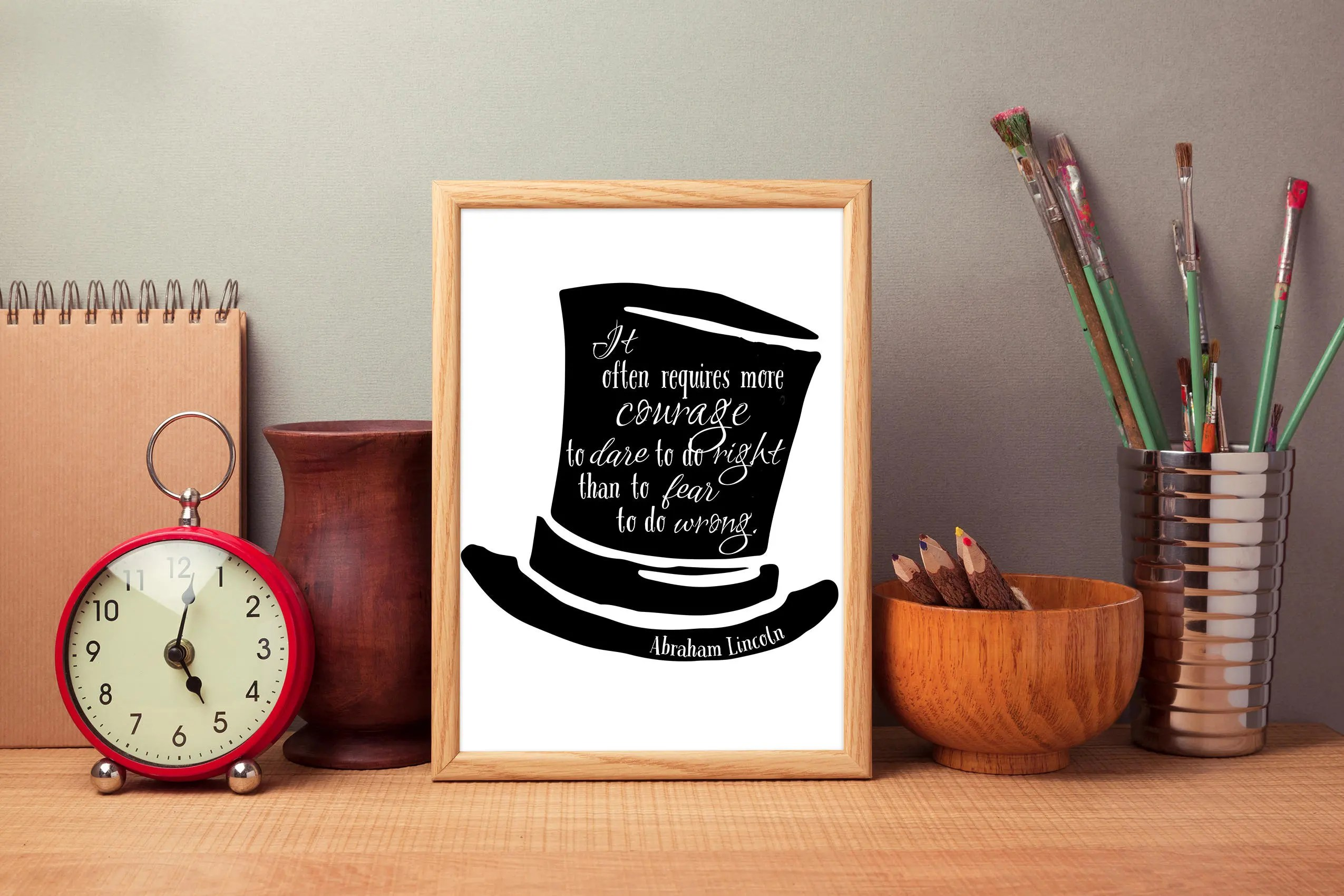 Abraham Lincoln Quote Courage Print President Quote