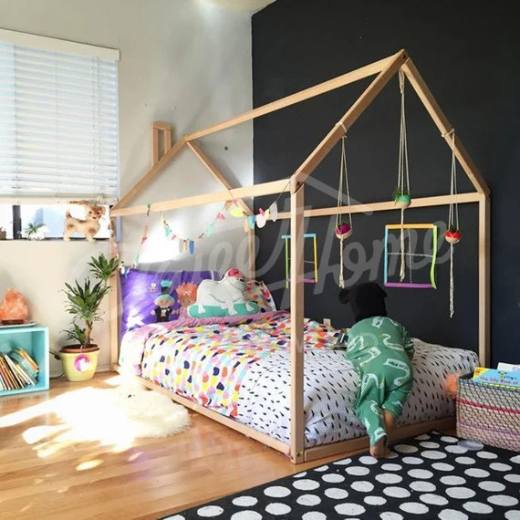 Toddler Bed House Bed Children Bed Wooden House Tent Bed Etsy
