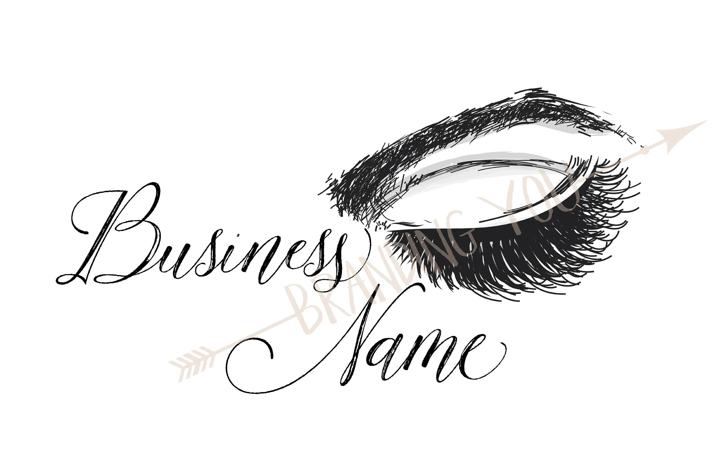 Custom Logo Lash Drawing Logo Eyelash Logo Sketch
