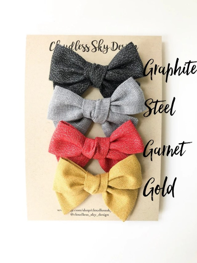 glimmer bows, sparkle bows, shimmer bows, hair bows, fancy hair bow, bows, girls hair bows, bow set, christmas bows, wedding bow,