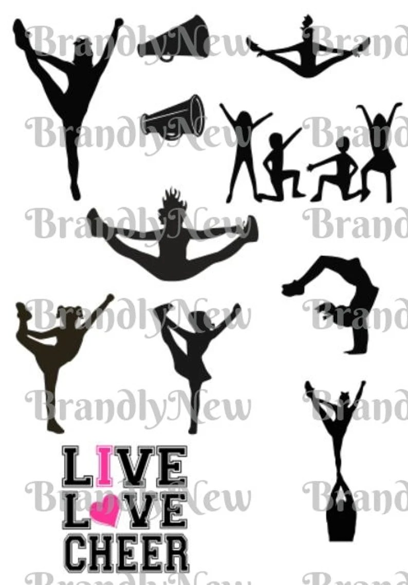 Download Me encanta Cheer Bundle Design / Live Love Cheer Design ...