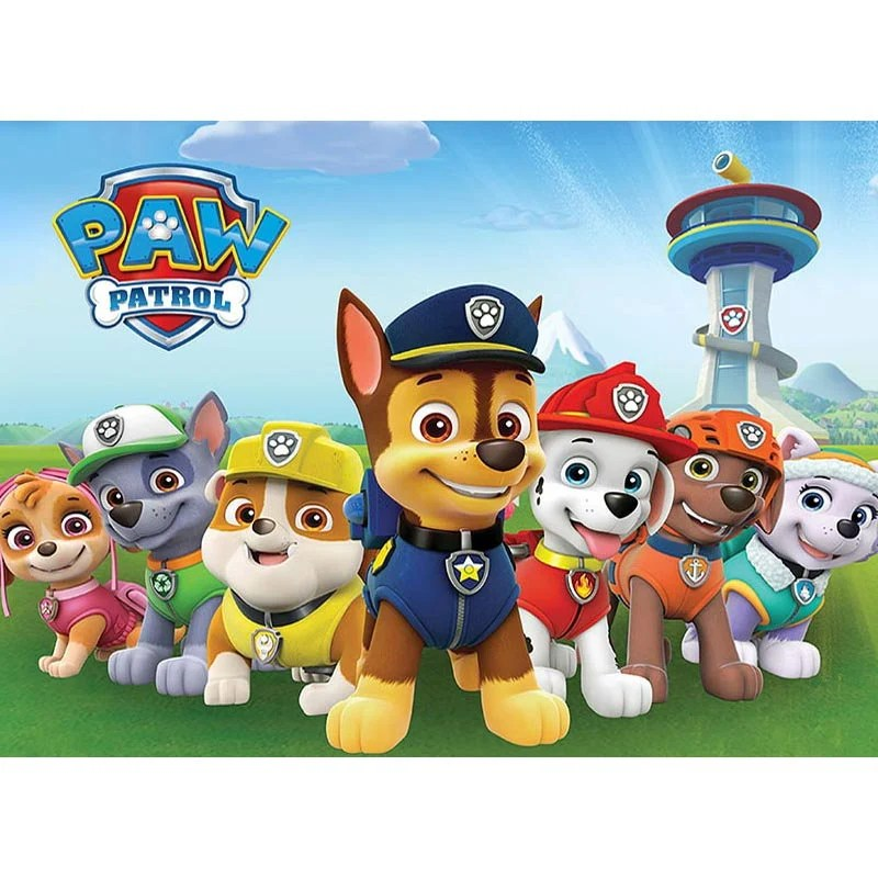 Paw Cartoon Dogs Patrol