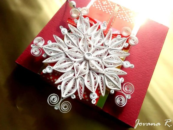 Quilling Snowflake Ornament