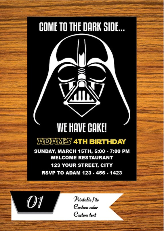 star wars invitation star wars party invitation star wars birthday party invite star wars party printable free card thank you ms1