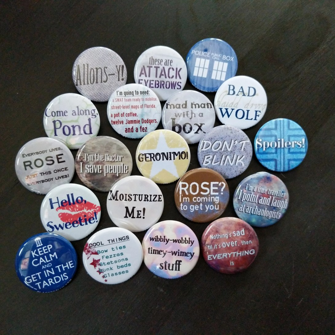 Doctor Who  buttons 1.25&...