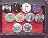 Goth / industrial buttons...
