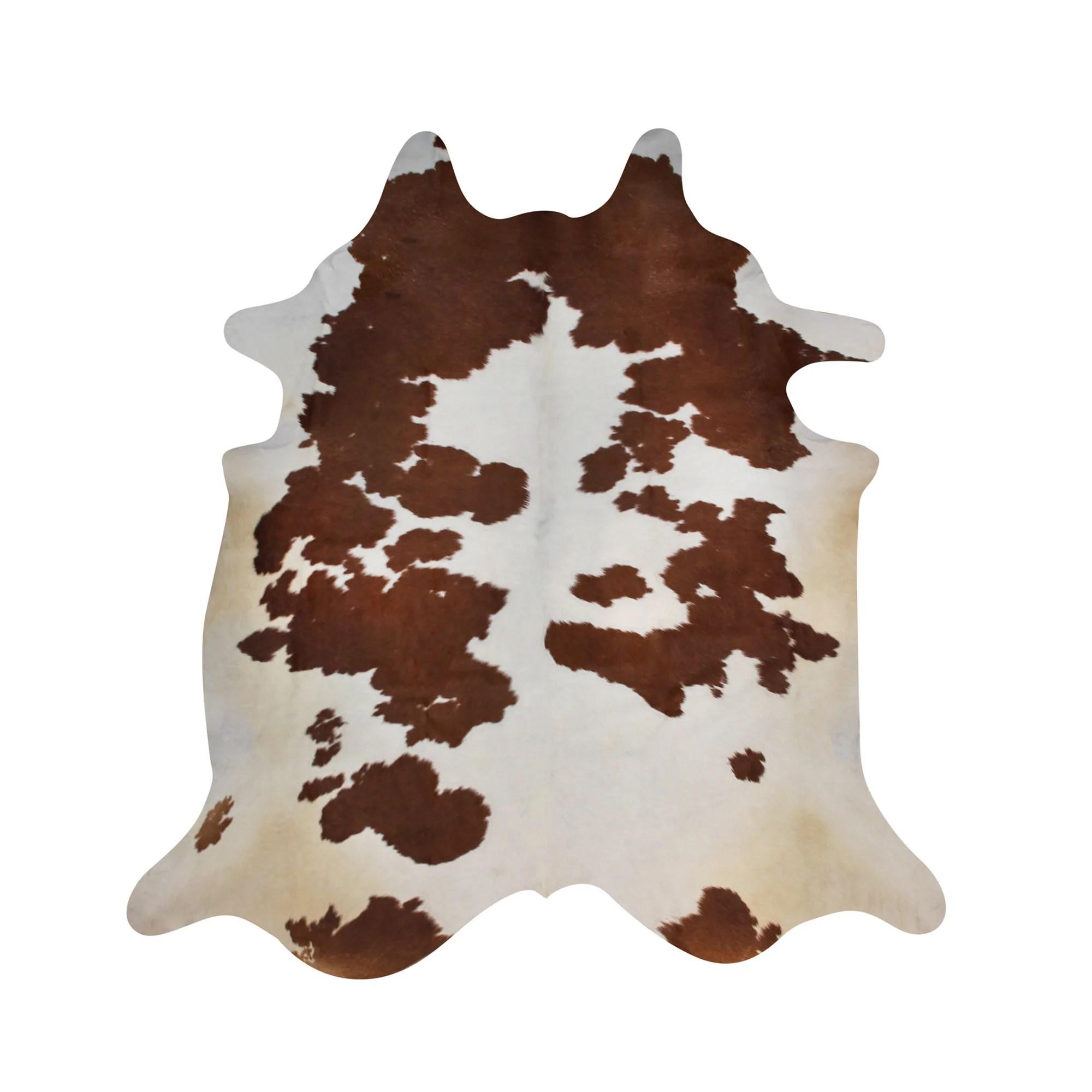 Brown And White Cowhide Rug Handpicked Natural Cowhide