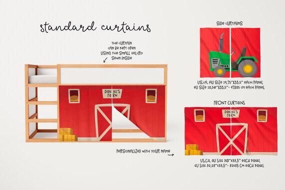 farm playhouse curtains barn ikea kura