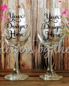 Mockup Wine Glasses Blank Photo Floral Wooden Decor Etsy