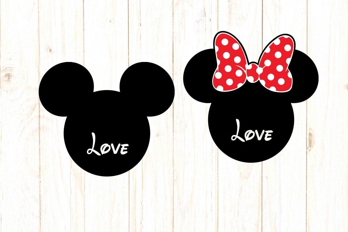 Download Mickey Minnie love svg Mickey Minnie head Disney svg ...