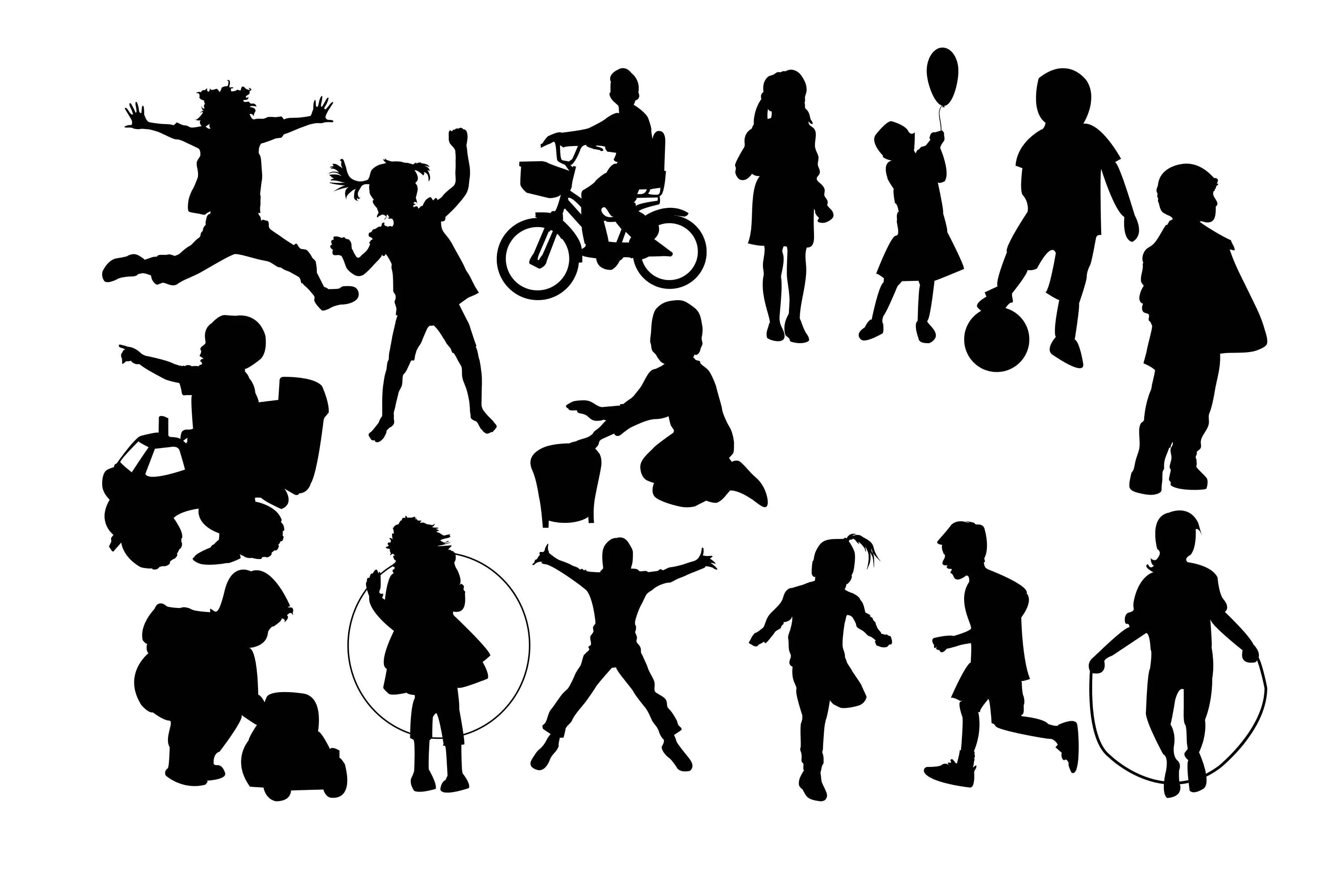Children Silhouette Kids Clipart Kids Silhouette Children