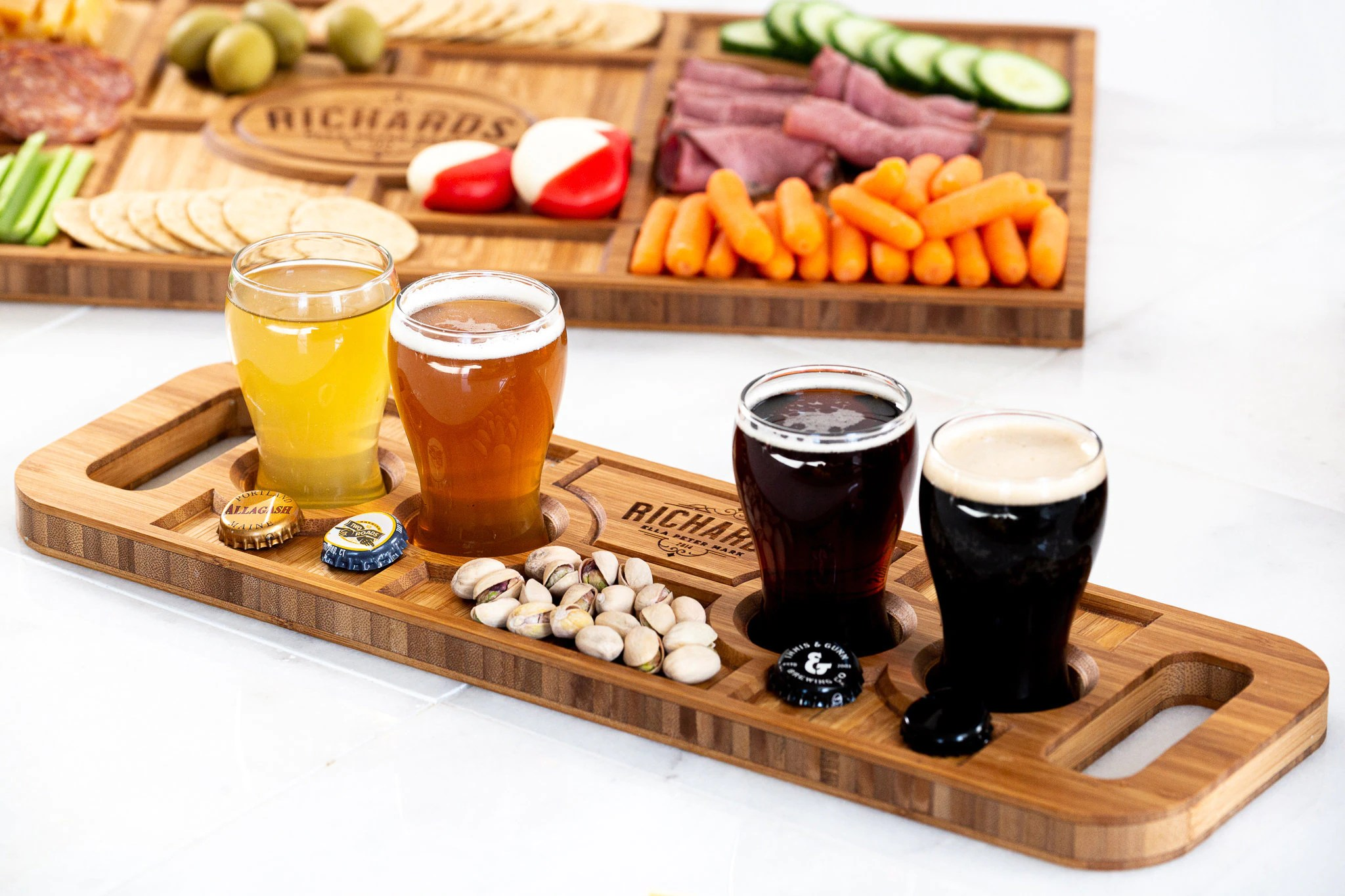Personalized Charcuterie Planks and Beer Flights  4 Styles image 8