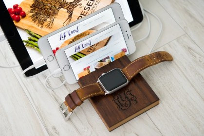 The Apple Watch Triple Slot Charging Dock by Left Coast image 0