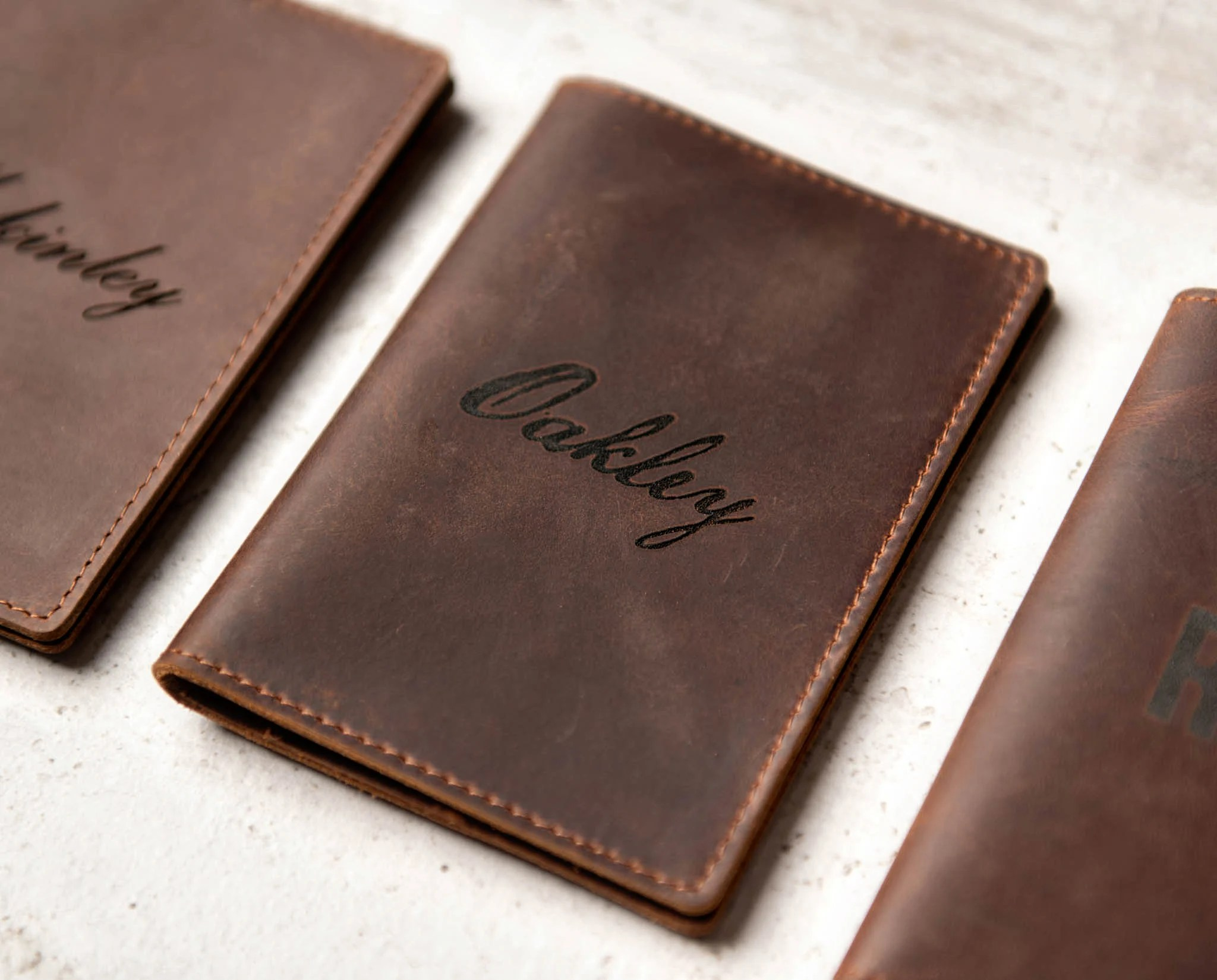 Personalized Leather Passport Cover Holder by Left Coast image 7