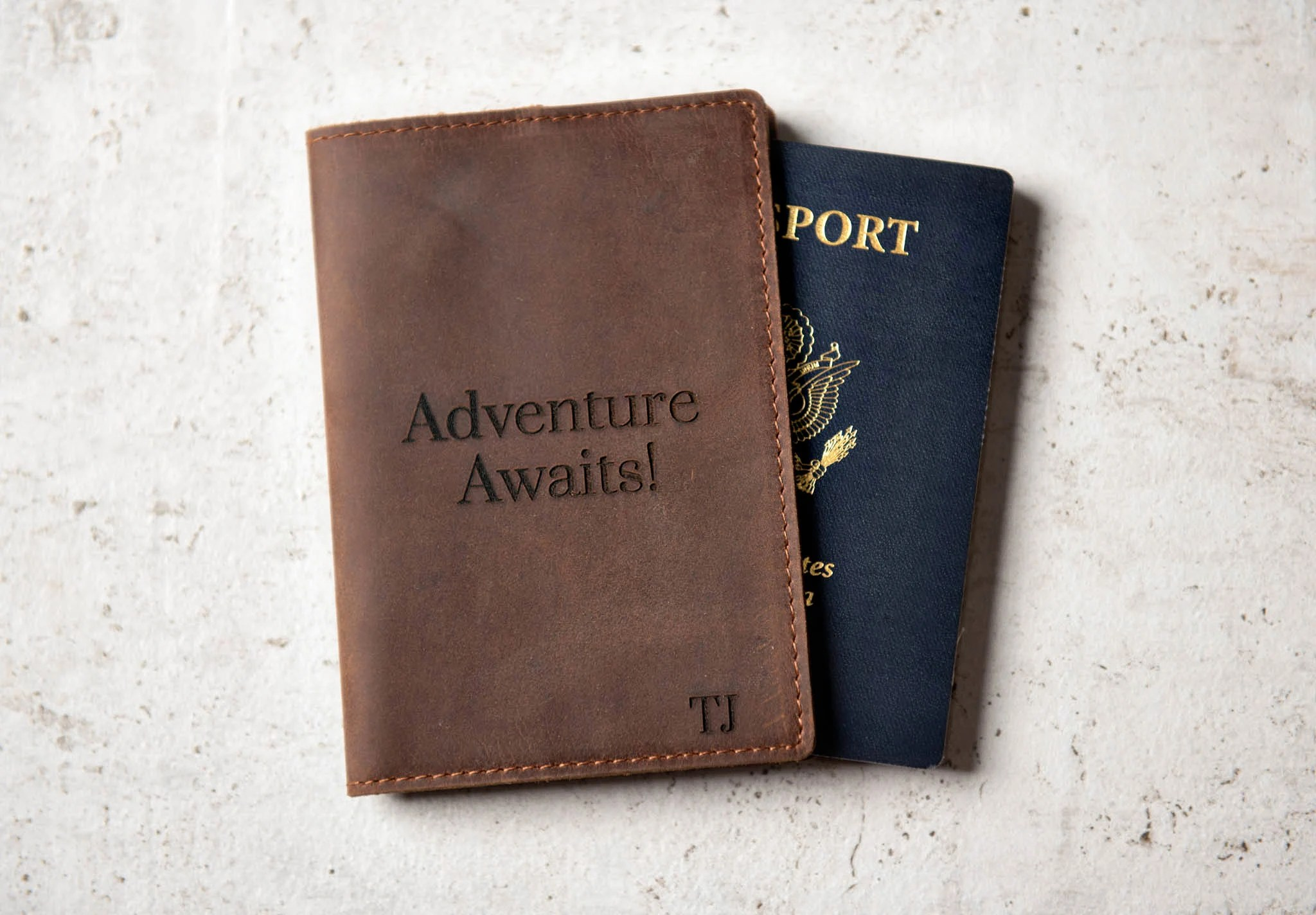 Personalized Leather Passport Cover Holder by Left Coast image 6