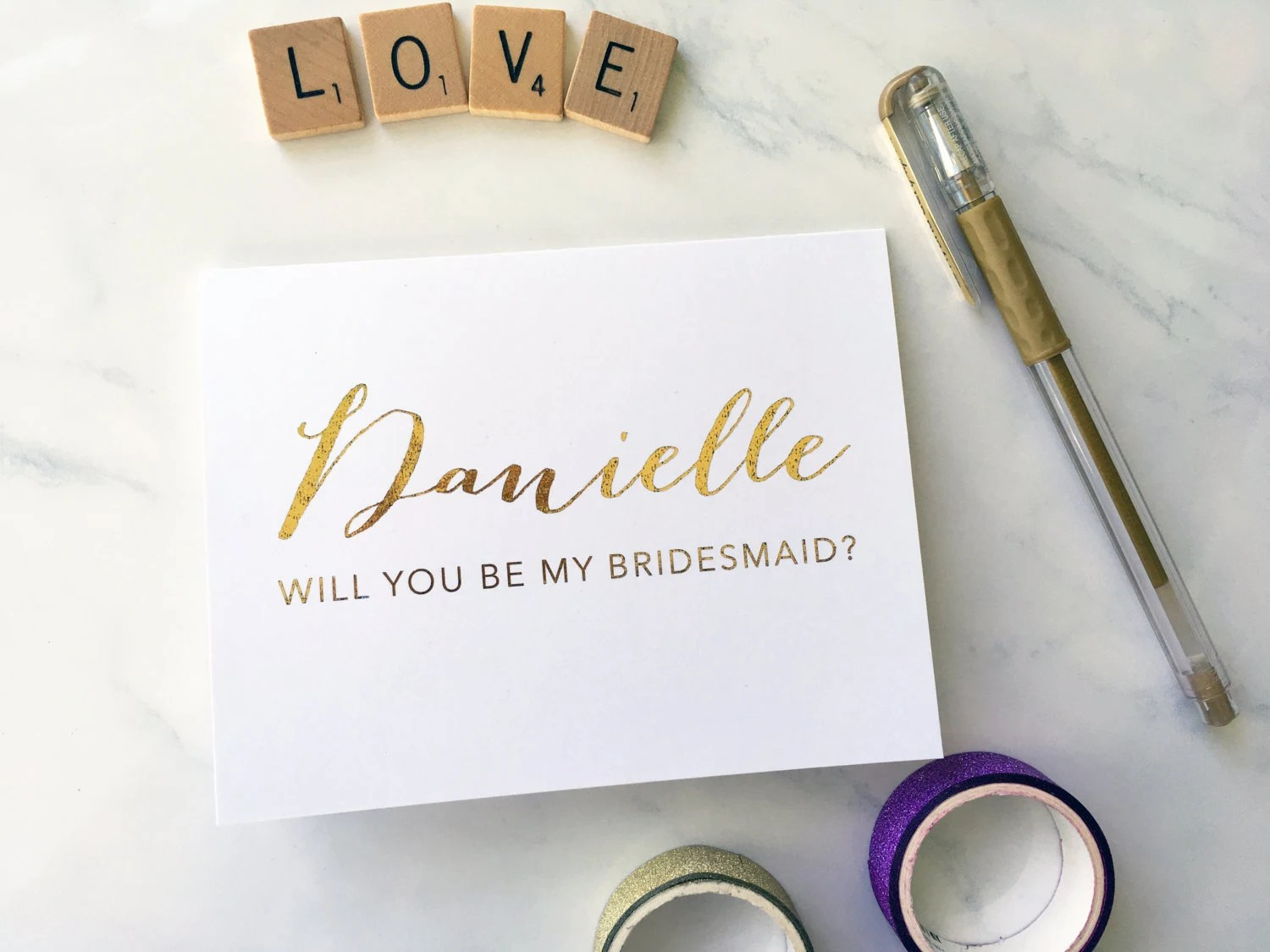Will you be my bridesmaid maid of honor matron of honor  image 3