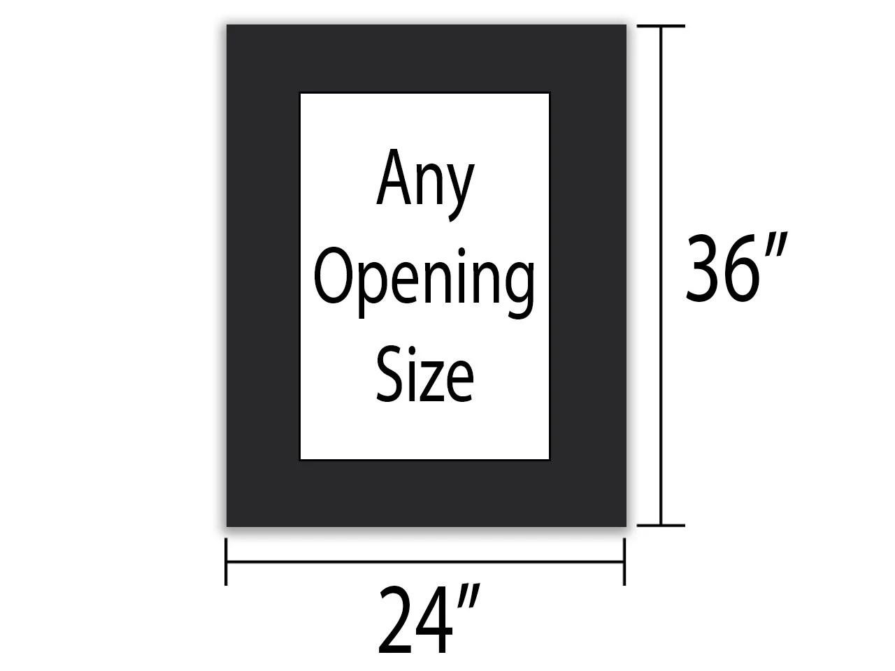 white custom mat for picture frame
