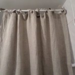 Stone Washed Linen Curtains With Ties 57 Or 72wide Etsy