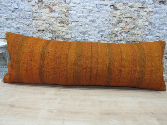 dinde biologique kilim coussin 16 x 48 decoration coussin boheme decoratif canape literie oreiller laine fait