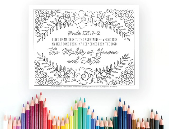 Maker of Heaven and Earth, Coloring Page, Psalm 200:200-20, Printable  Coloring, Instant Digital Download, Christian Coloring Sheet