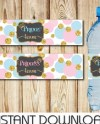 Matching Set Of Gender Reveal Signs Silly String Gender Etsy