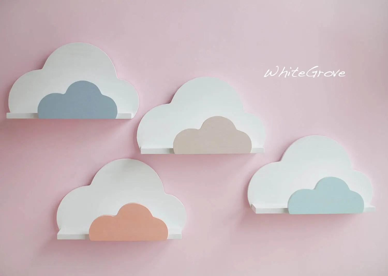nuage etagere etagere nuage nuage nursery decor nuage kids decor etagere etagere murale nuage nuage chambre d enfant decoration murale