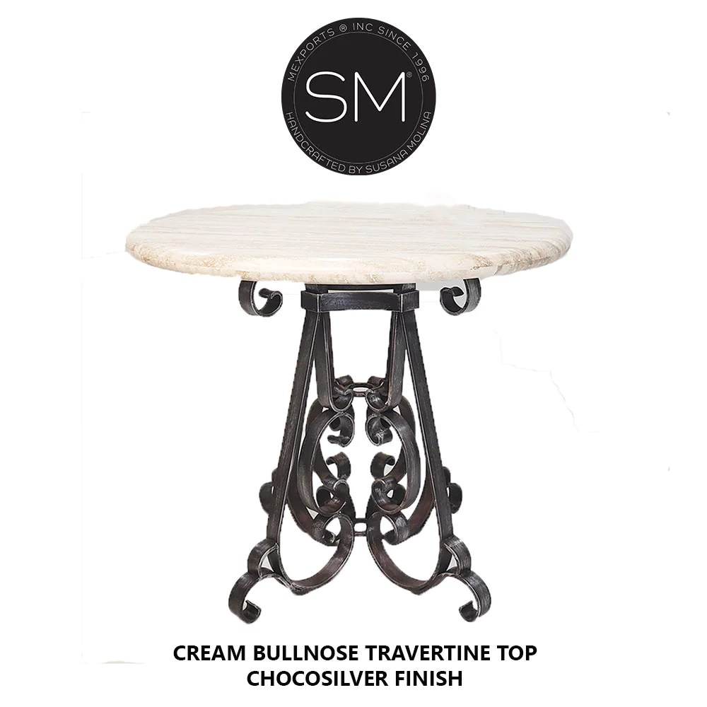 pub table wrought iron base outdoor patio bar table handcrafted luxury furniture since 1996 mexports by susana molina