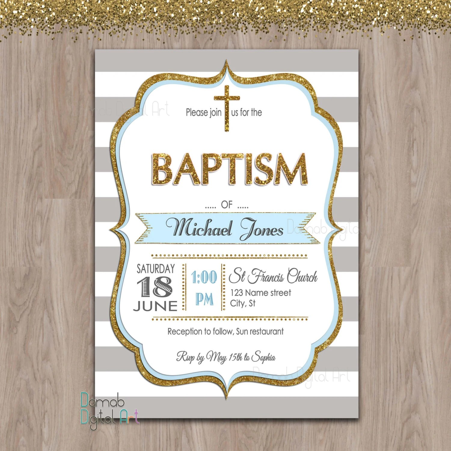Baptism Christening Invitations