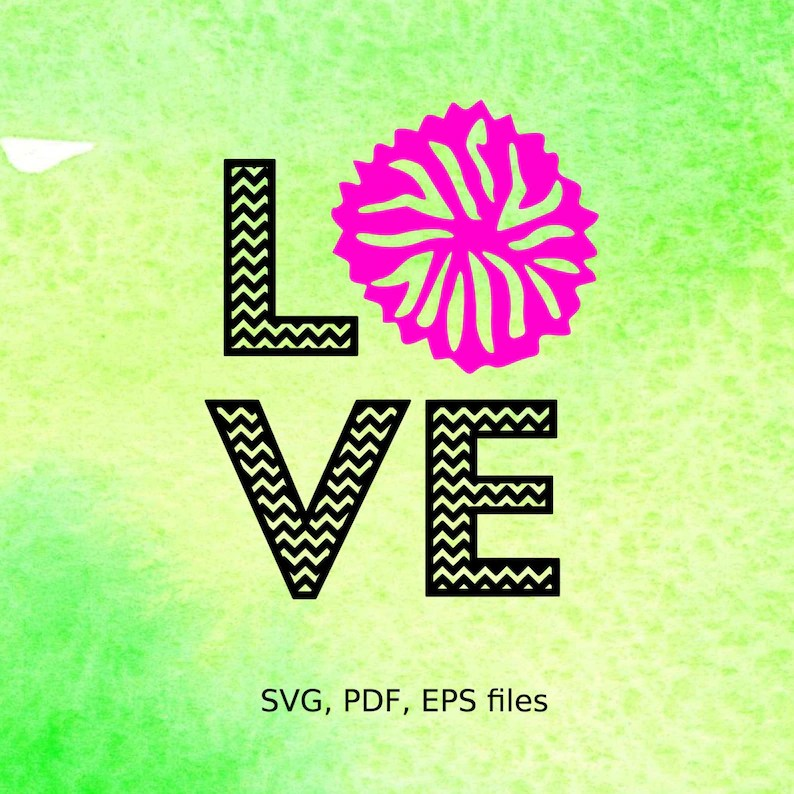 Download Chevron Cheer Love svg pdf eps files for cutting in   Etsy