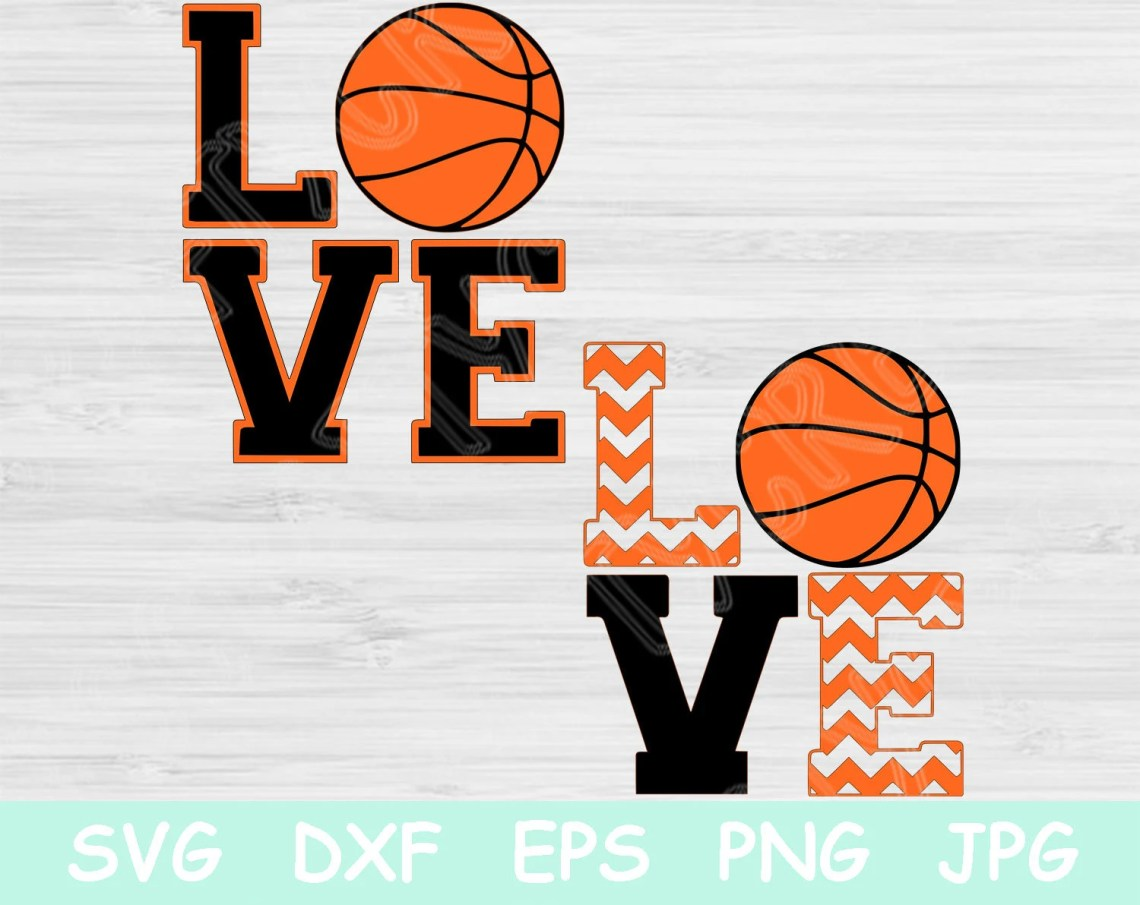 Download Love Basketball Svg Files with Chevron Print. Svg ...