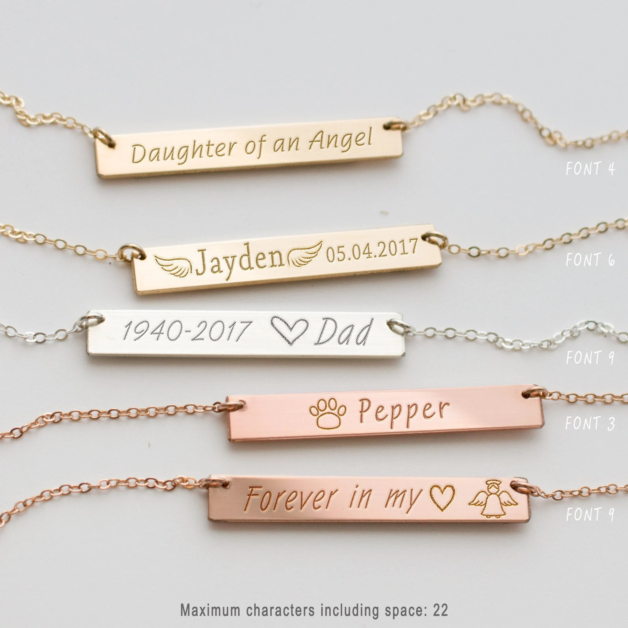 Personalized Memorial Necklace Remembrance Jewelry In Memory image 2