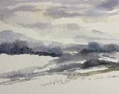 Winter at Heart - Abstract Watercolor