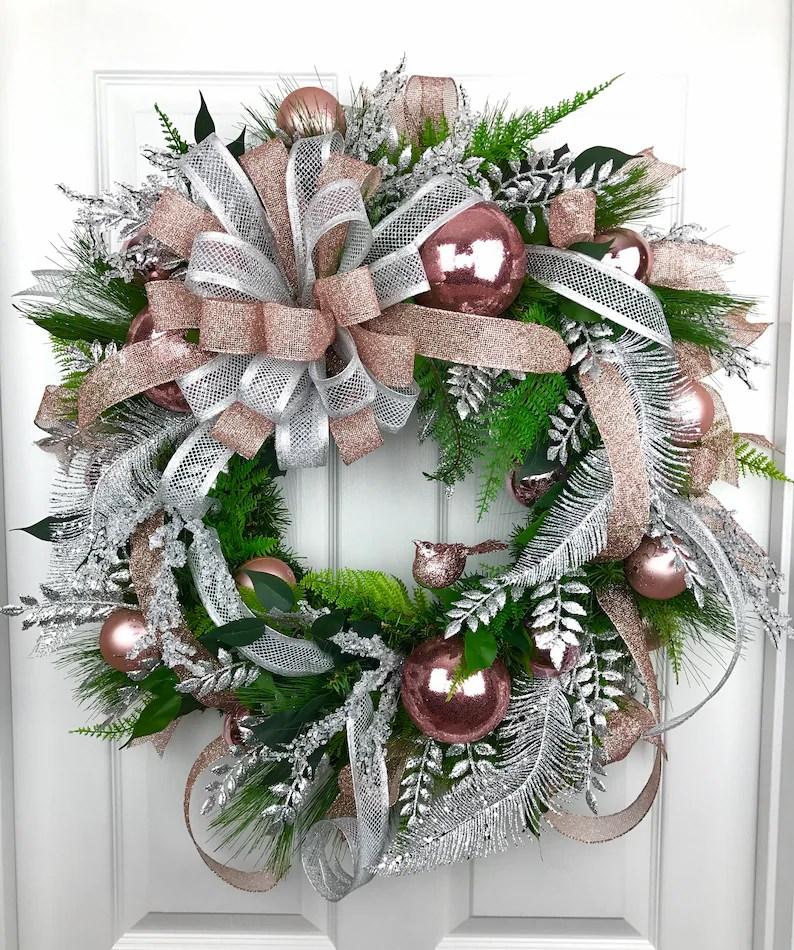 Rose Gold Ornament Wreath Novocom Top