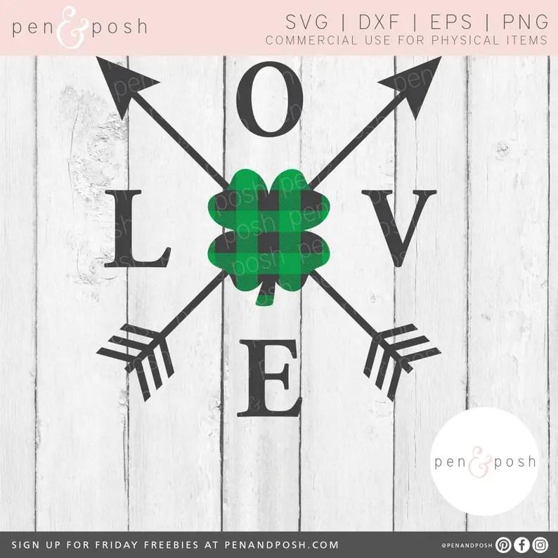 Download Love Shamrock SVG Shamrock SVG Love Clover SVG St | Etsy