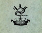 Crown with Hissing Snake ...
