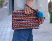 Vegan boho clutch, Colour...