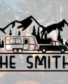 Camper Name Decal Etsy
