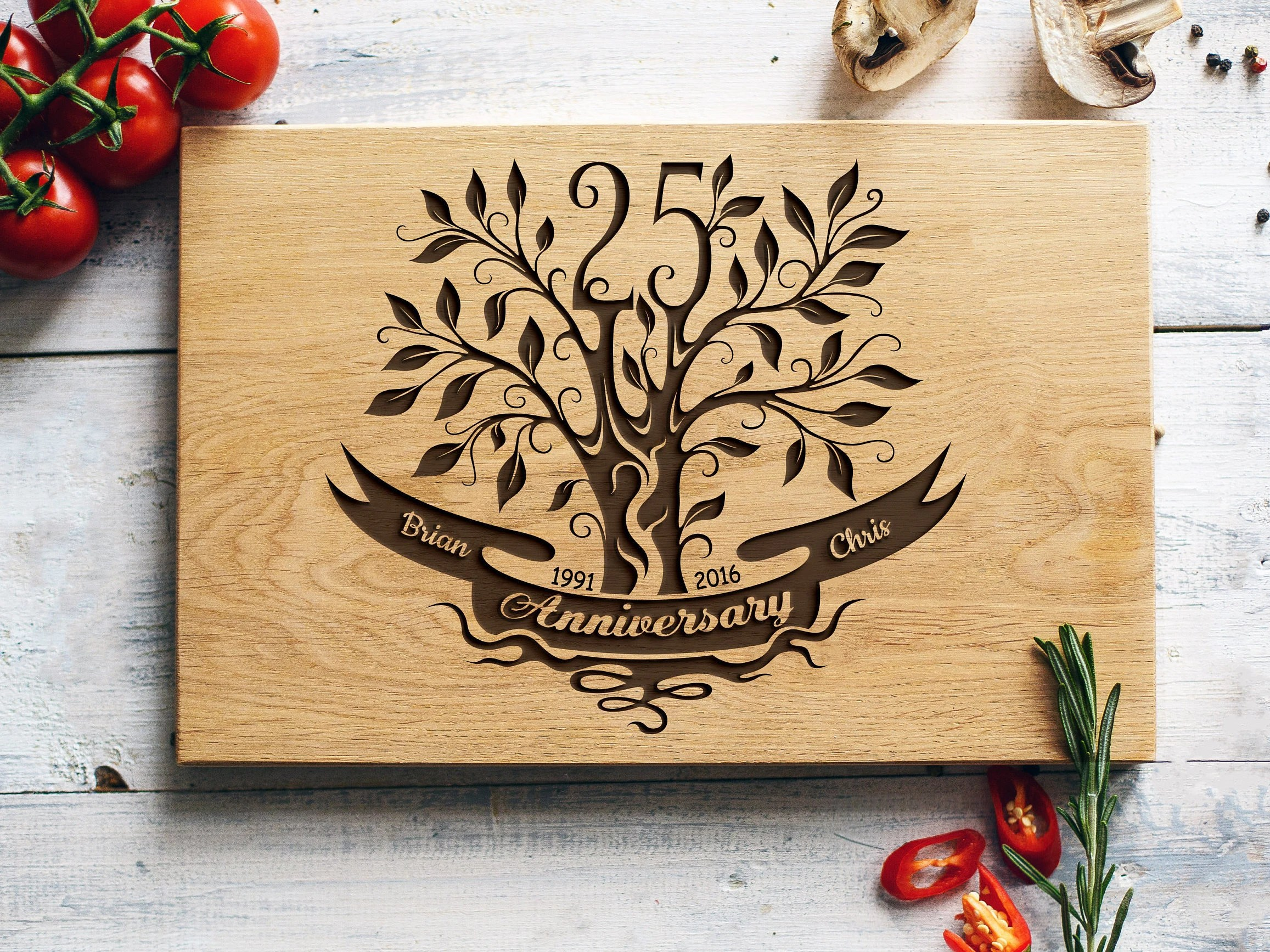 25th Anniversary Gift 25th Wedding Anniversary Gift For