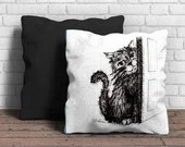 Cat Illustration Cushion:...