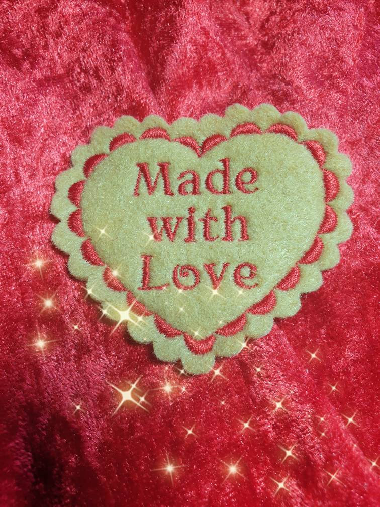 embroidered patch memory cushion