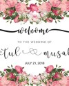 Printable Wedding Signwelcome Wedding Sign Birthday Baby Etsy