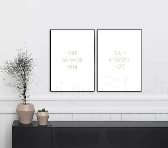 Download Free Wall Frame Mockup Psd Yellowimages