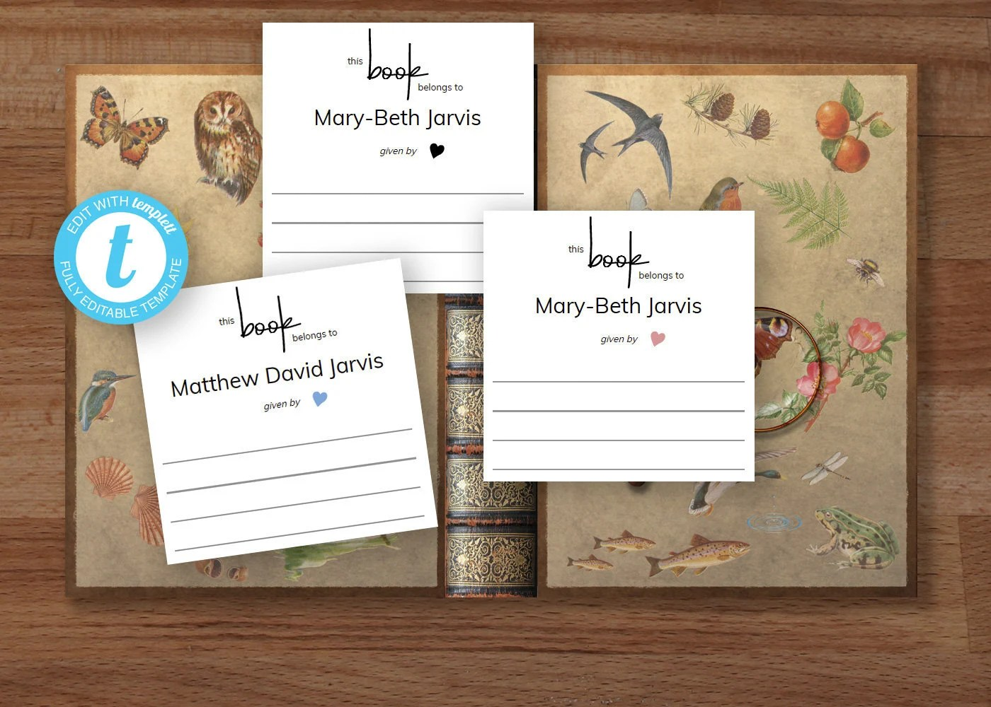 Modern Printable Bookplate Baby Shower Book Request Template
