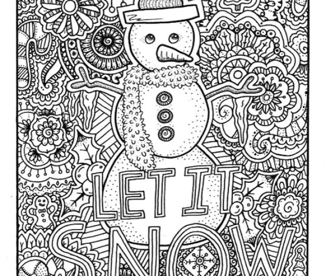 Christmas Coloring Page Coloring Book Pages Printable Adult Etsy