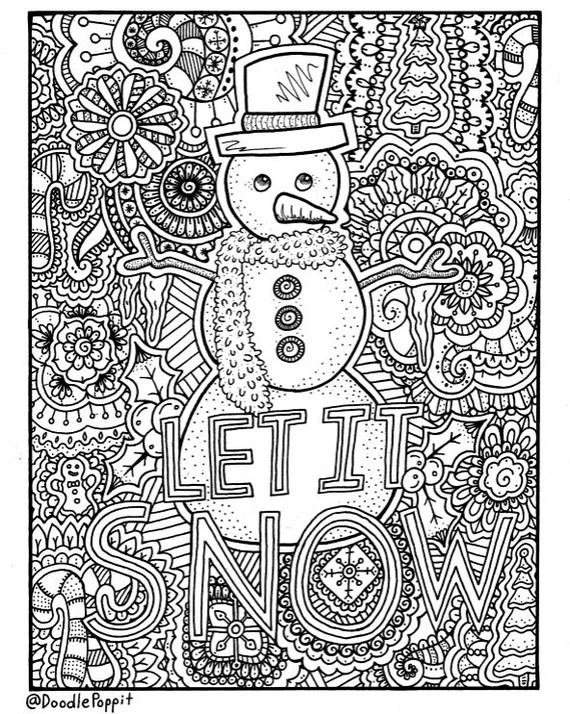 Christmas Coloring Page Coloring Book Pages Printable ... | christmas colouring pages for adults