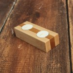 Wood Tea Light Candle Holder Wooden Tealight Candle Holder Made From Maple And Cherry Wood