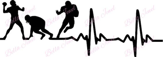 Download Football SVG Football player svg heartbeat svg my heart   Etsy