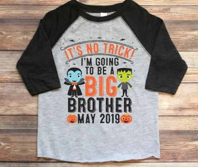 Halloween Big Brother Announcement Shirt Halloween Big Brother Shirt Halloween Pregnancy Announcement Sibling Pregnancy Announcement