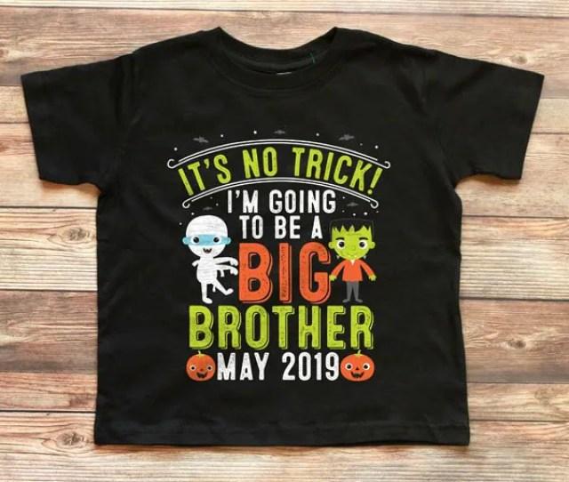 Halloween Big Brother Shirt Halloween Pregnancy Announcement Halloween Big Brother Announcement Shirt Halloween Pregnancy Reveal